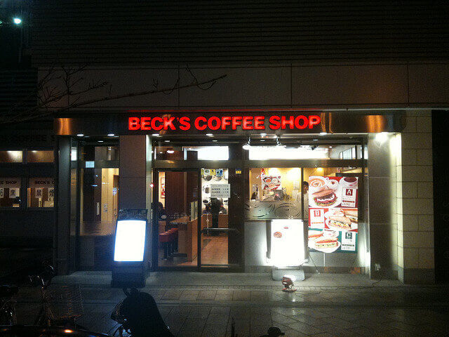 BECK'S COFFEE SHOPの店頭