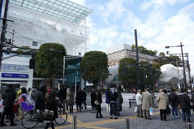 二子玉川駅前の様子(バイト編)