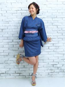 塚田農場のデニム浴衣