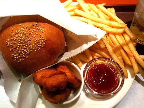 ベッカーズのハンバーガーセット