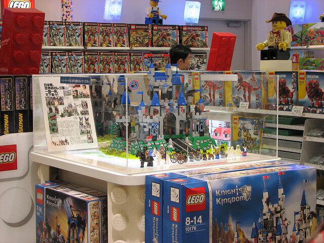 Lego click brickの店舗の様子