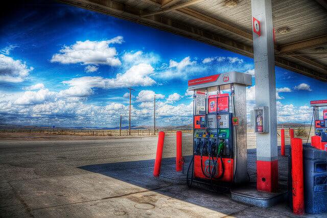 ガソリンスタンドの様子