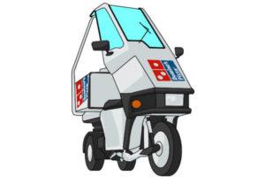 ドミノピザの初の宅配バイク